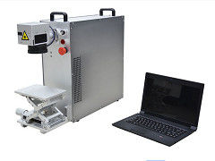 High Speed Portable Fiber Laser Marking Machinery For Electronic Parts Marking